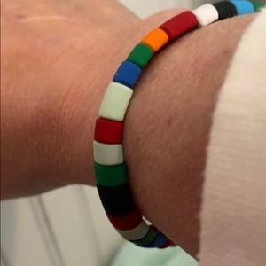 Tile stack bracelet colorful !